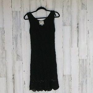 California Gold Rush Sleeveless Crocheted Dress